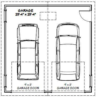 how many square is a typical 2 car garage 24x24 2 car garage 24x24g1 576 sq ft excellent floor plans decor garage pinterest