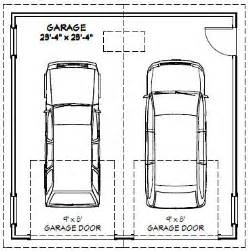 How Wide Is A Two Car Garage by Size Garaze Dimensions Garaze Size For One Car Garage