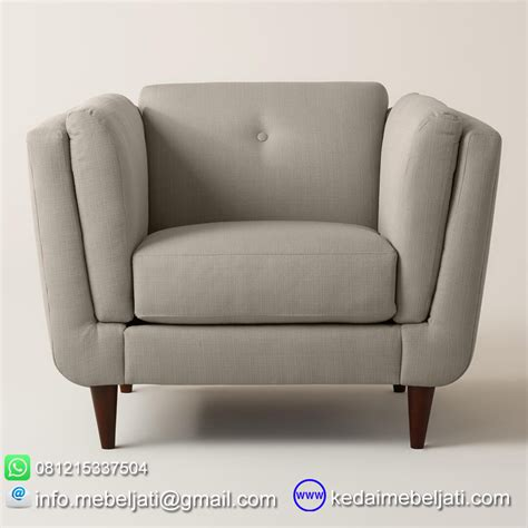 sofa modern minimalis terbaru model vintage single kayu jati