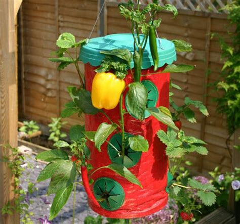 Topsy Turvy Strawberry Planter by Pots Planters Topsy Turvy Strawberry Planters For Sale