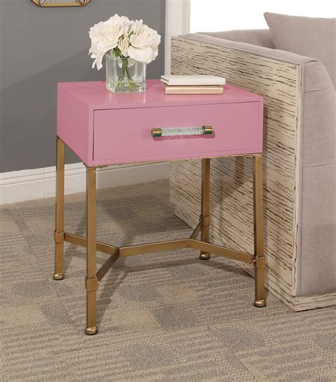 Pink Accent Table Accent Tables Gold Iron End Table Pink