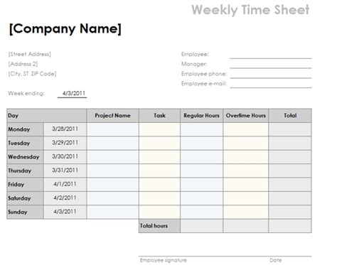 overtime timesheet template weekly timesheet template with tasks and overtime