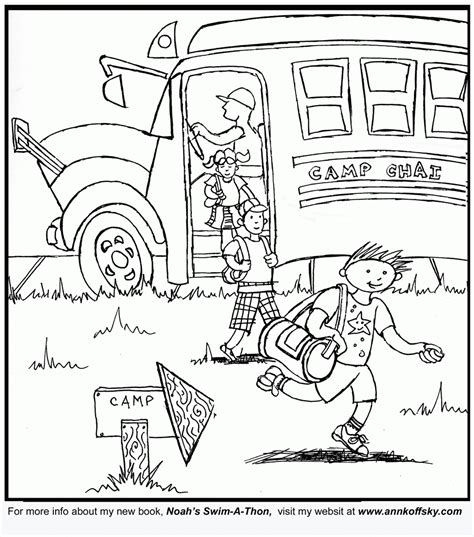 free coloring pages summer camp az coloring pages