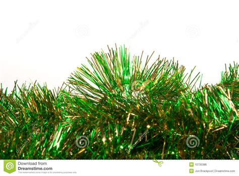 green and gold tinsel royalty free stock image image
