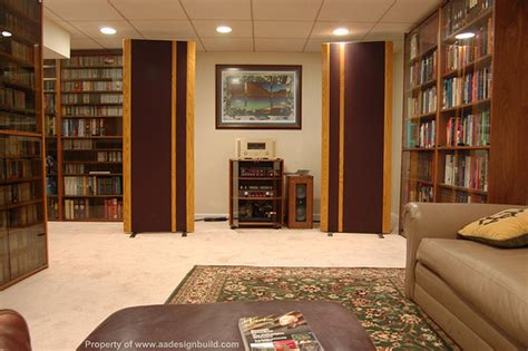 basement library design www aadesignbuild finished basement design and