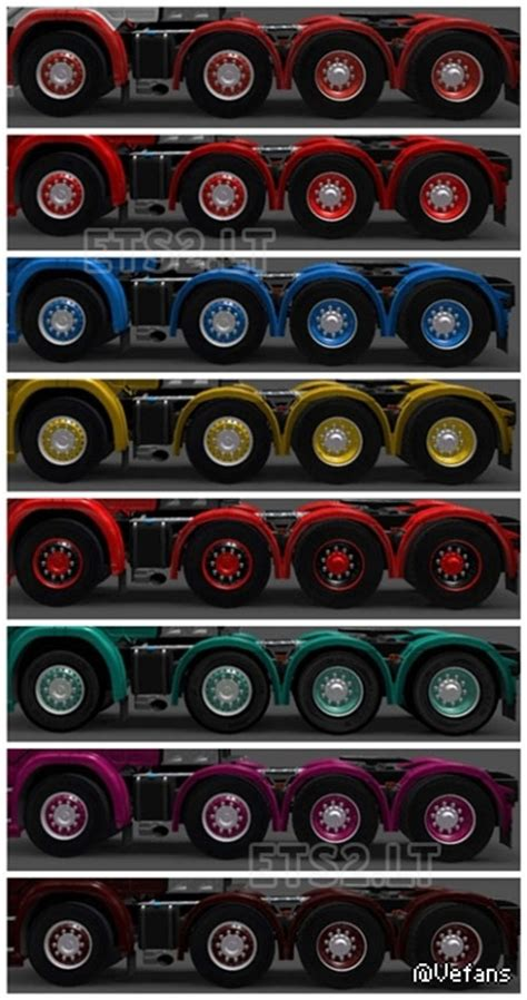 colored wheels color wheels ets 2 mods