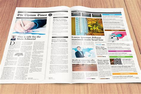 newspaper template compacttabloid magazine templates  creative market