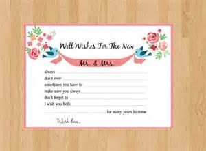 advice cards for the and groom and groom digital advice cards wedding well wishes wedding advice cards flower advice card