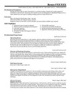 registered neuro special care unit resume exle