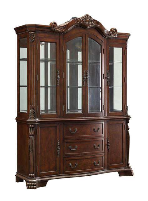 Cherry Wood Curio Cabinet by Marisol Cherry Traditional China Curio Cabinet Ebay