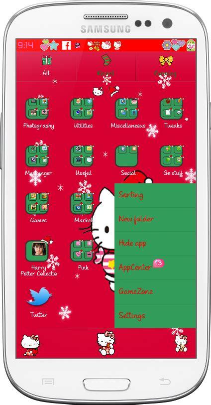 samsung ch themes hello kitty pretty droid themes hello kitty christmas go launcher theme
