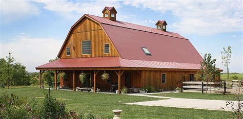 gambrel barn barn wood home great plains gambrel barn home project bbu207 photo gallery