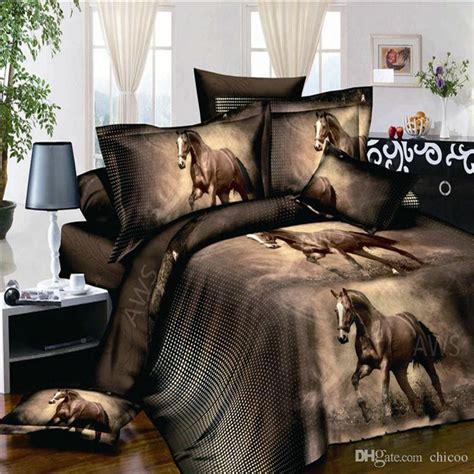 horse print comforter sets 3d bed set horse printed bedding animal print bedspread