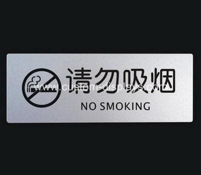 no smoking sign with stand acrylic sign holders chinese factory wholesale quality