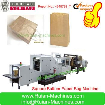 Paper Shopping Bag Machine - shopping paper bag machine with handles buy