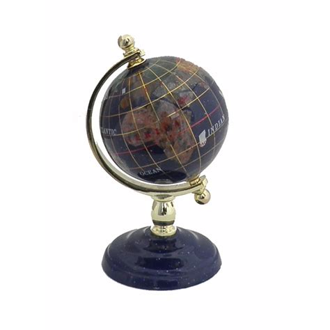 gorgeous lapis lazuli semi precious gemstone globe new