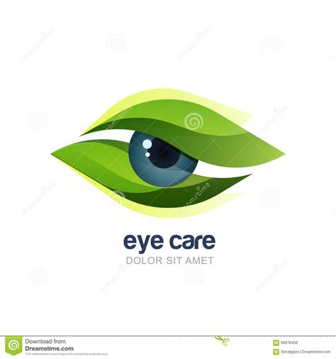 typography eye vector illustration of abstract human eye in green leaves