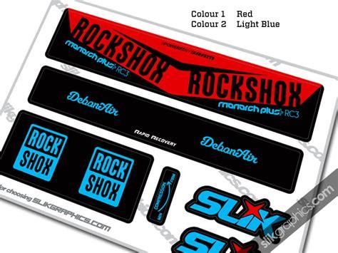 Rock Shox Monarch Plus Aufkleber by 2016 Rockshox Monarch Plus Rc3 Debonair Style Decal Slik