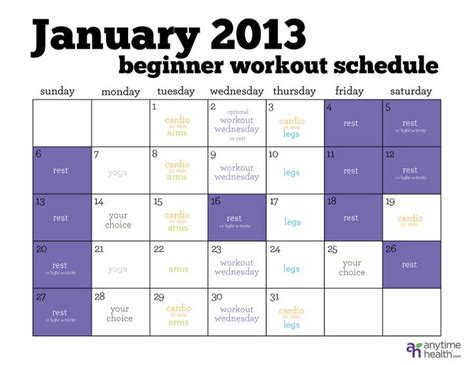 the busy beginner s workout schedule for the beginners