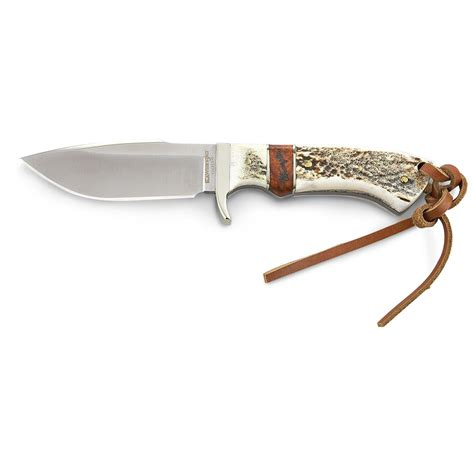 stag handle knife wrangler 174 stag handle skinner knife 181090 fixed blade