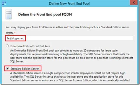 Define Collocate Skype For Business Server 2015 Deployment Part 2 Jeff