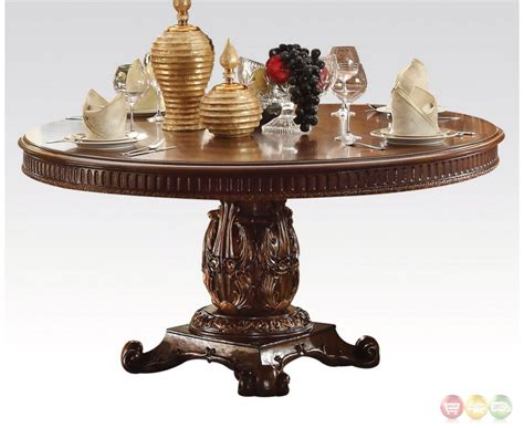 Ornate Dining Table Vendome Formal Ornate 60 Quot Wood Top Dining Table In Brown Cherry