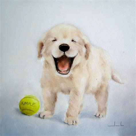 puppy painting smiling puppy nursery painting by junko norman