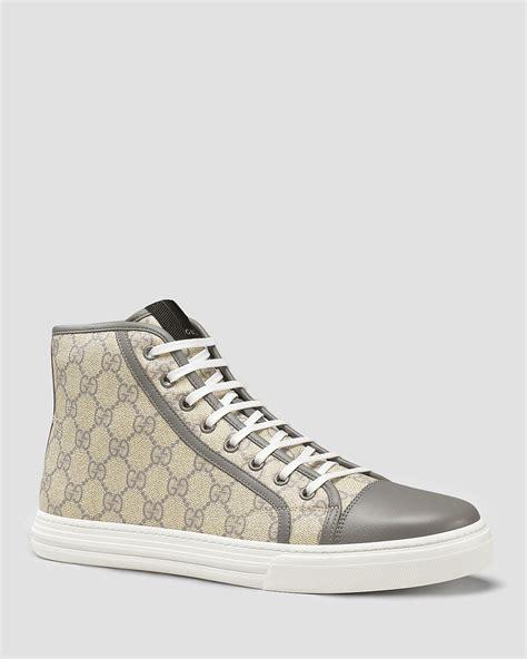 gucci california high top sneakers gucci california gg supreme high top sneakers bloomingdale s