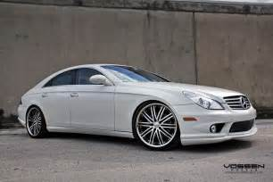 Mercedes With Rims Mb Cls550 Carlson Kit Carlson Exhaust And Vossen Wheels