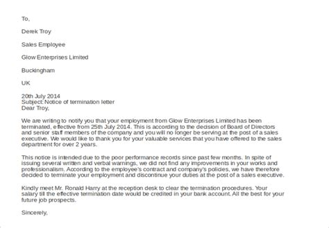 Sle Warning Letter To Employee For Poor Sales Performance