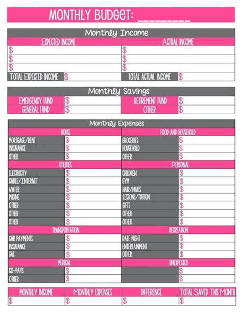 printable budget journal free printable monthly budget worksheet journal craft