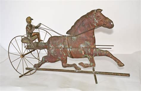 Weathervanes For Sale Vintage Copper Trotting And Jockey Weathervane For