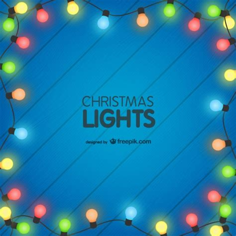 colorful christmas lights background vector free download