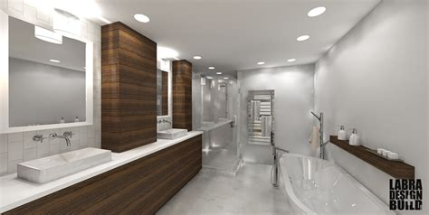 Modern Master Bathroom Home Design Interior