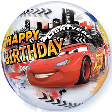 cars happy birthday balloon 24 helium filled