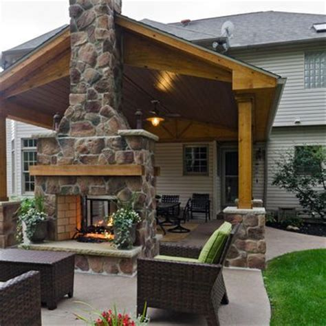 sided outdoor fireplace patio two sided fireplace design ideas pictures remodel