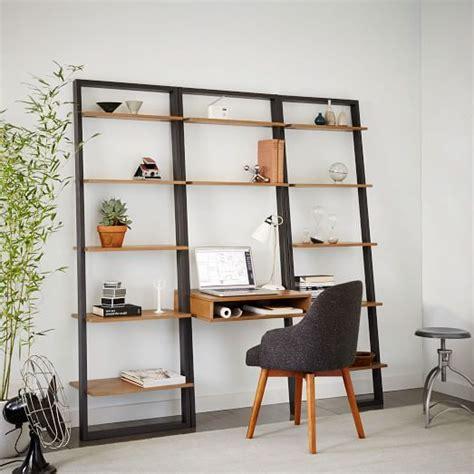 ladder bookcase desk ladder shelf desk wide bookshelf set west elm