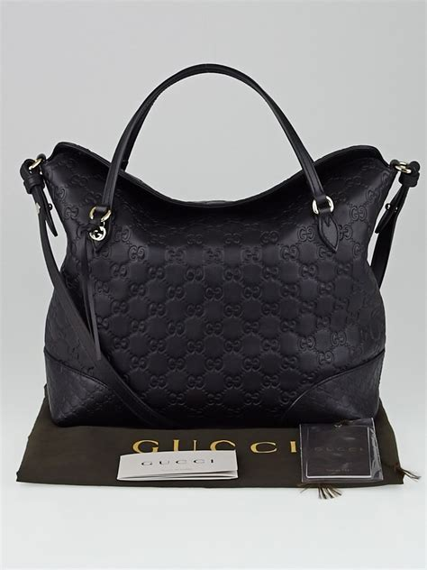 8 Great Top Bags by Gucci Black Guccissima Leather Top Handle Bag Yoogi