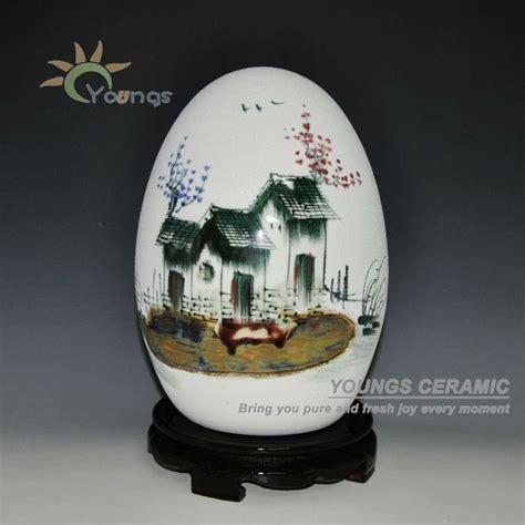 telur bentuk vas keramik dengan tangan dekoratif lukisan desain rumah keramik porselen vas id