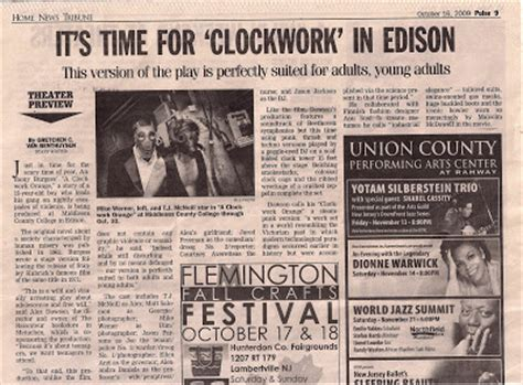a clockwork orange the play pre show press promotion