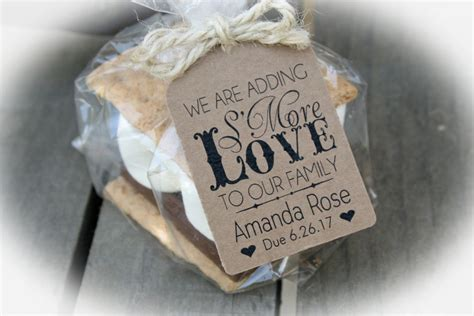 where to buy baby shower favors s mores baby shower favor kits 3 tag colors smores