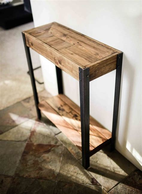 Side Table For Hallway Entry Entry Table And Pallet Wood On