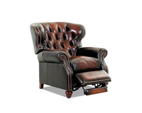 Recliner Design by American Made Tufted Leather Recliner