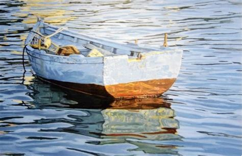 boat canvas delray beach mary louise o sullivan s oil on canvas painting rowboat at