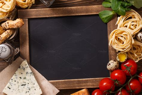 italian food  vintage wooden plank food drink