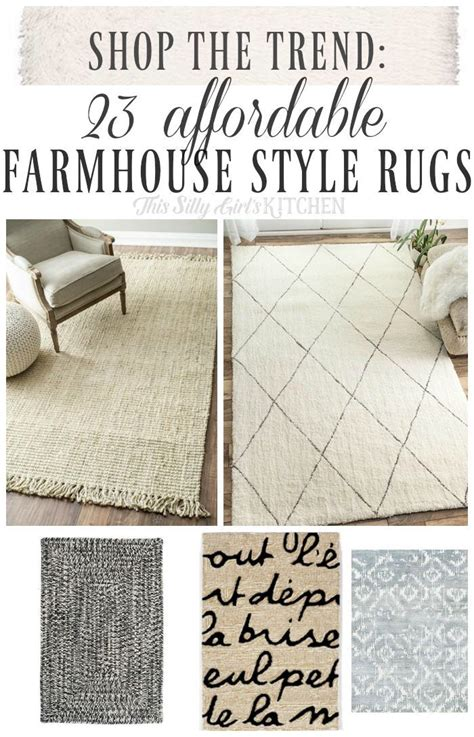 shop  trend  affordable farmhouse style rugs