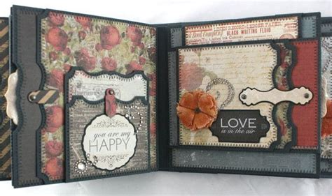 scrapbook album tutorial pdf 6 quot x6 quot one love scrapbook mini album pdf tutorial videos