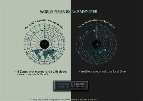 rainmeter themes clock world timer rx radar rainmeter by d4fmac on deviantart