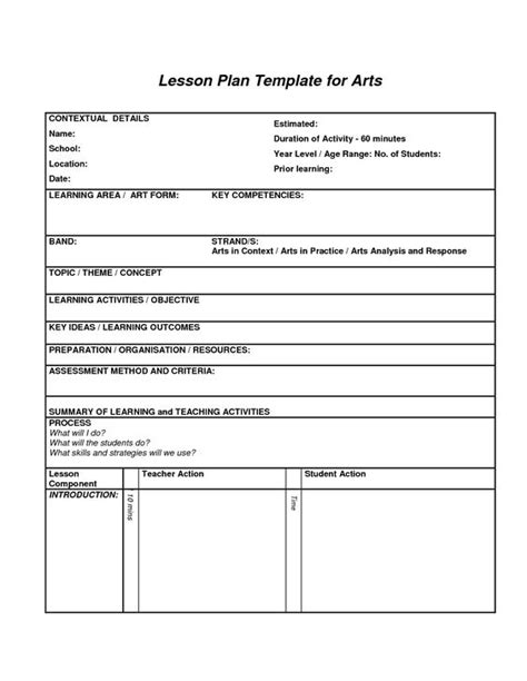 interdisciplinary lesson plan template lesson plans lesson plan templates and lesson plans