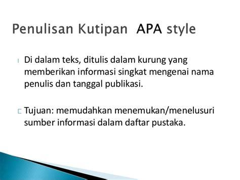 daftar pustaka format mla dan apa penulisan kutipan daftar pustaka 2012